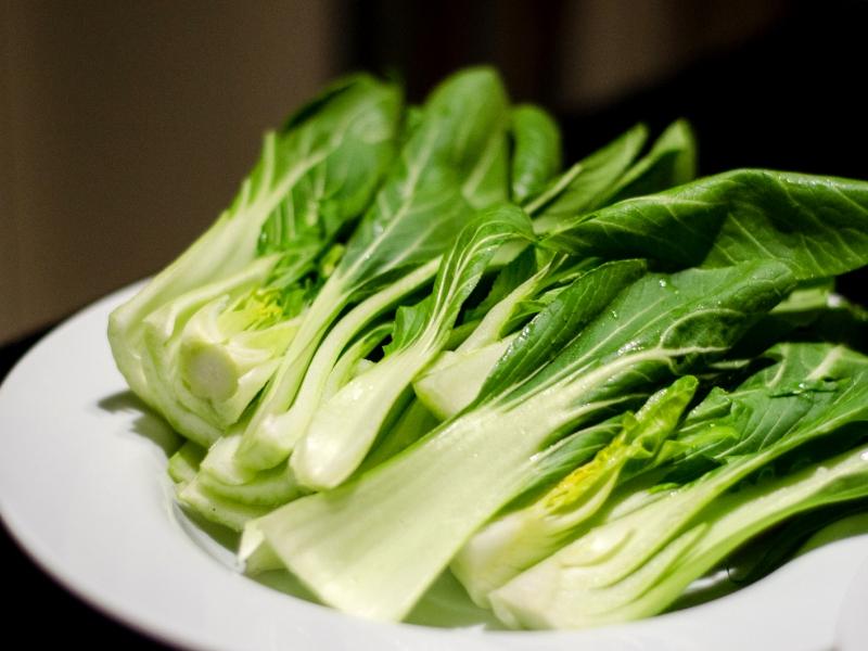 Вегетарианские блюда из пак-чой