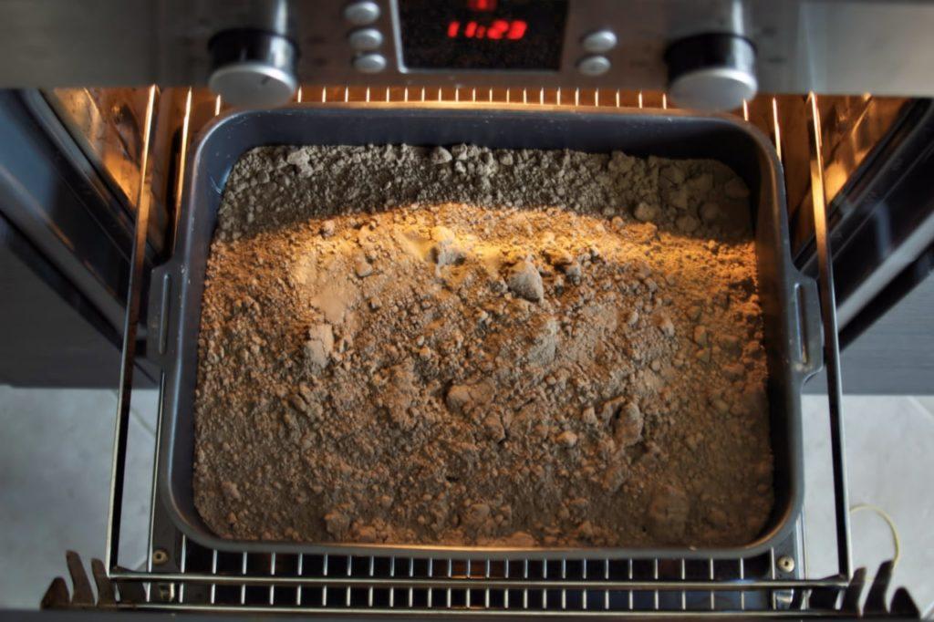 Почва для рассады - прокаливание в духовке